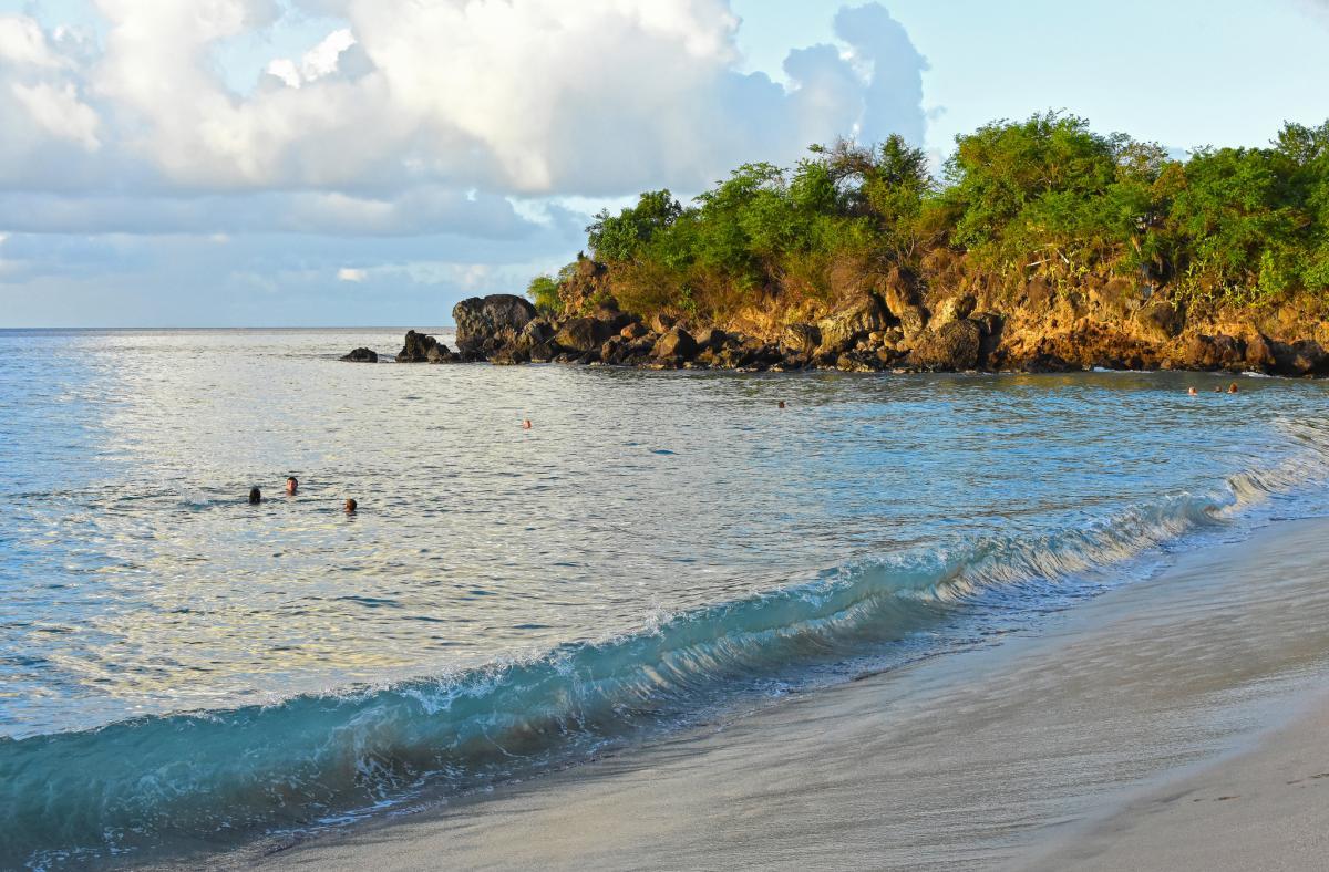 FG/SM7RYR Пляж Лерукс, остров Бас Тер, Гваделупа. Туристические достопримечательности.