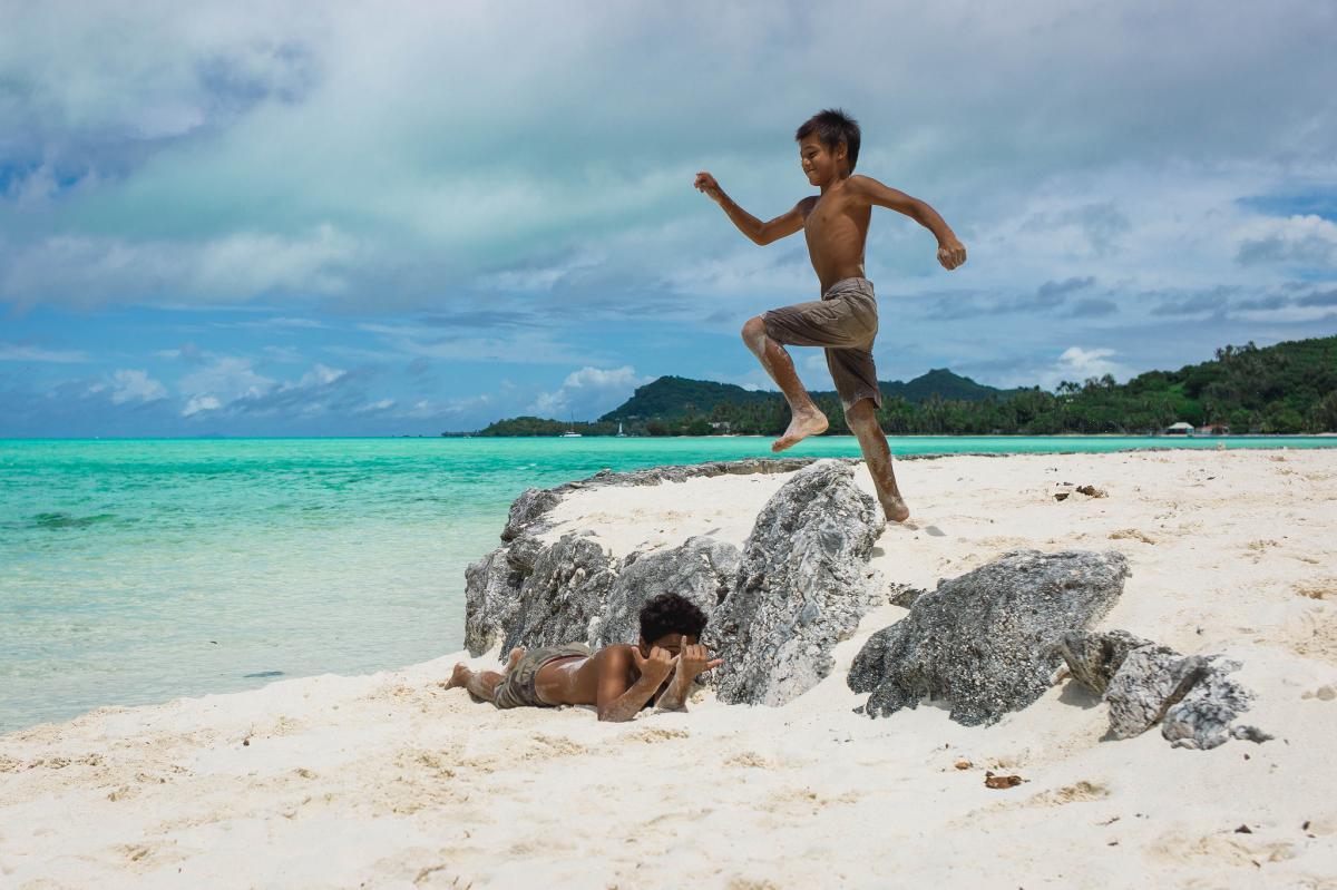FO/KE1B Остров Бора Бора, Французская Полинезия. Туристические достопримечательности.