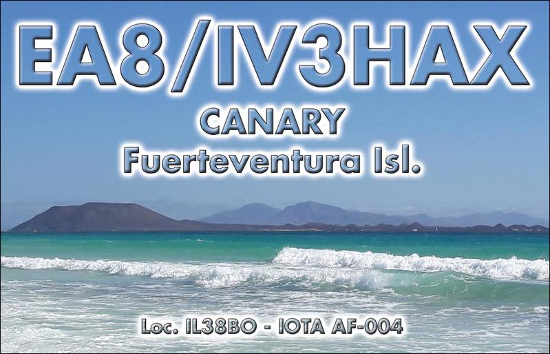 Fuerteventura Island Canary Islands EA8/IV3HAX QSL