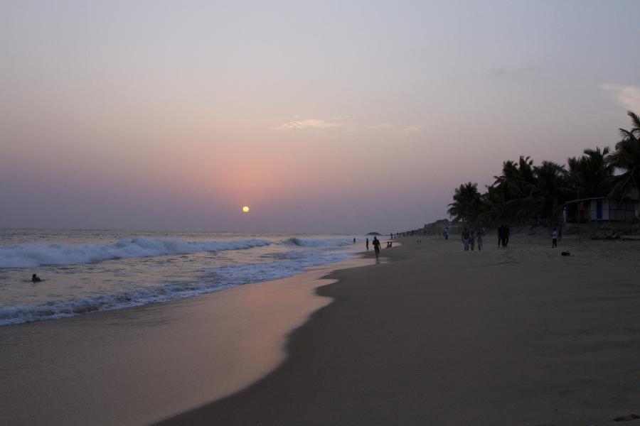 Ghana 9G1SD Tourist attractions spot Beach, Cape Coast.