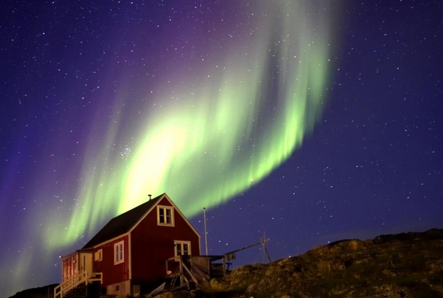 Greenland XP5T Tourist attractions spot Aurora.