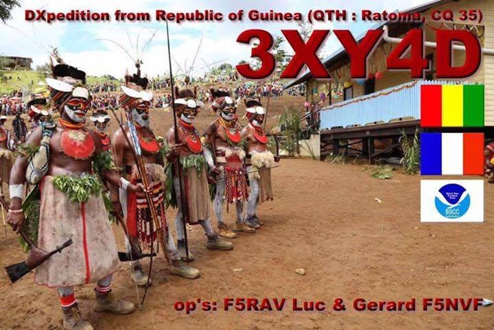 Гвинея 3XY4D Логотип QSL