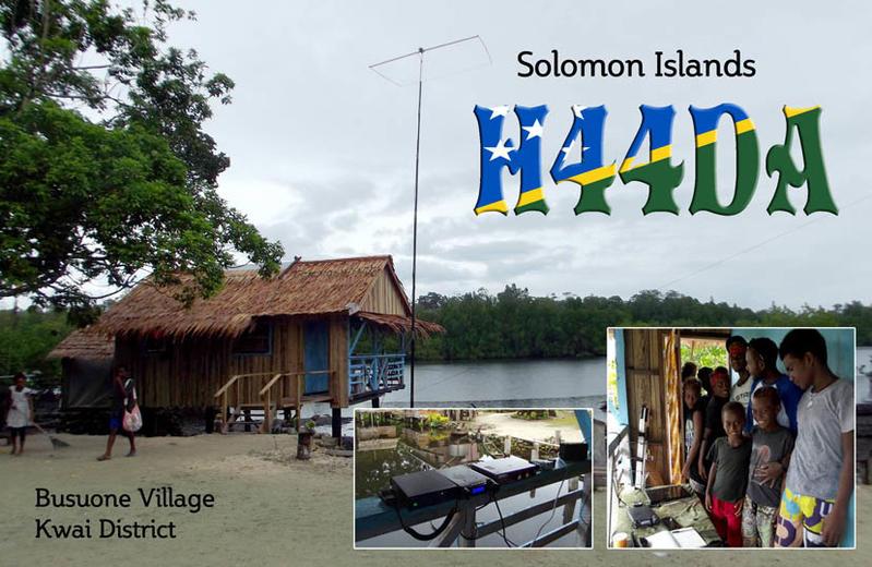 H44DA Guadalcanal Island, Solomon Islands QSL.