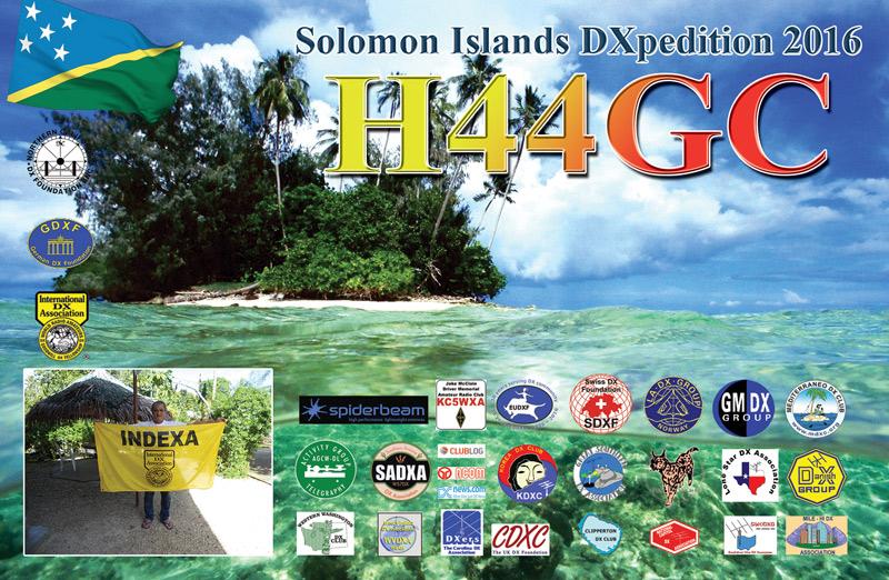 H44GC Solomon Islands DX Pedition 2016 QSL