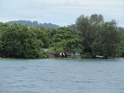 H44R Russell Islands The house we operated from, seen from the sea.