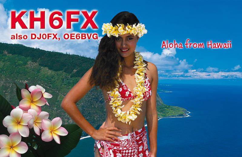 Hawaiian Islands KH6FX QSL