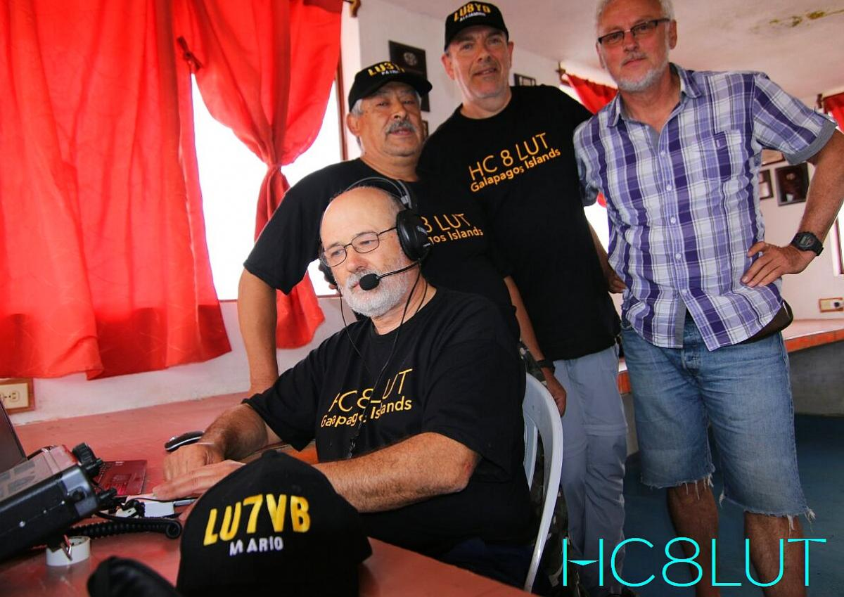 HC8LUT Members of Galapagos Islands DX Pedition Team and DK7PE
