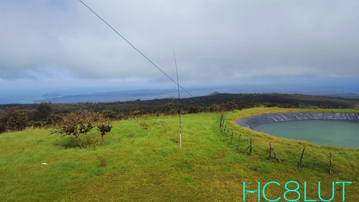 HC8LUT Galapagos Islands 40m Vertical antenna San Cristobal Island