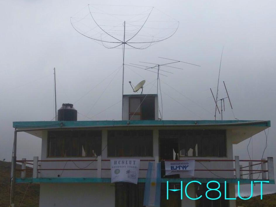 HC8LUT Галапагосские острова Остров Сан Кристобаль Антенны