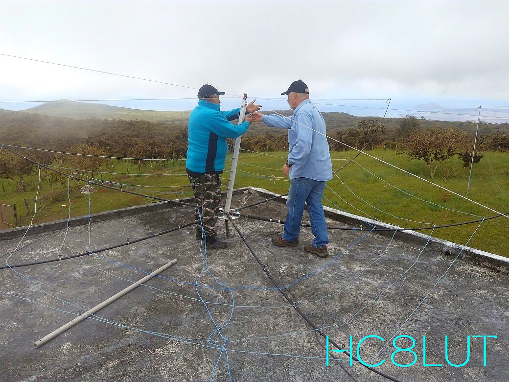 HC8LUT Galapagos Islands Assembly of Hex Beam Antenna