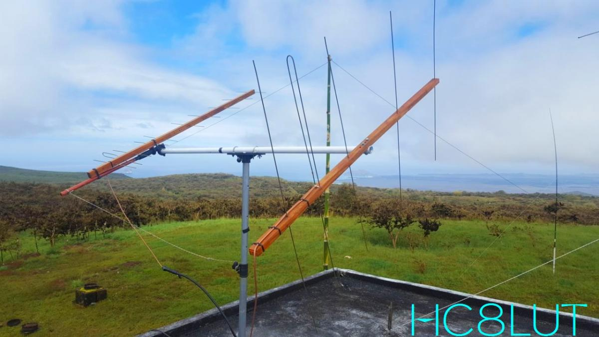 HC8LUT San Cristobal Island Galapagos Islands Satellite Antennas