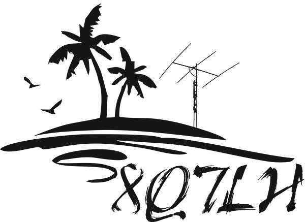 Остров Химанду 8Q7LH Логотип Радиолюбительский радиоклуб авиакомпании Люфтганза.