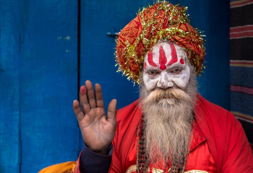 Индия AT2W Туристические достопримечательности Варанаси, Уттар Прадеш.