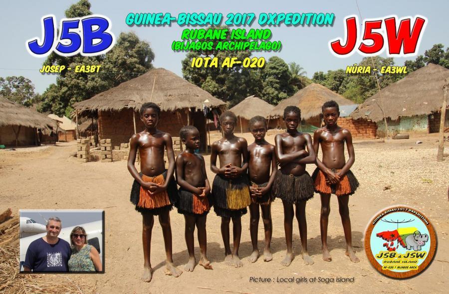 J5B J5W Rubane Island Bijagos Archipelago Guinea Bissau QSL Amateur Radio DX Expedition