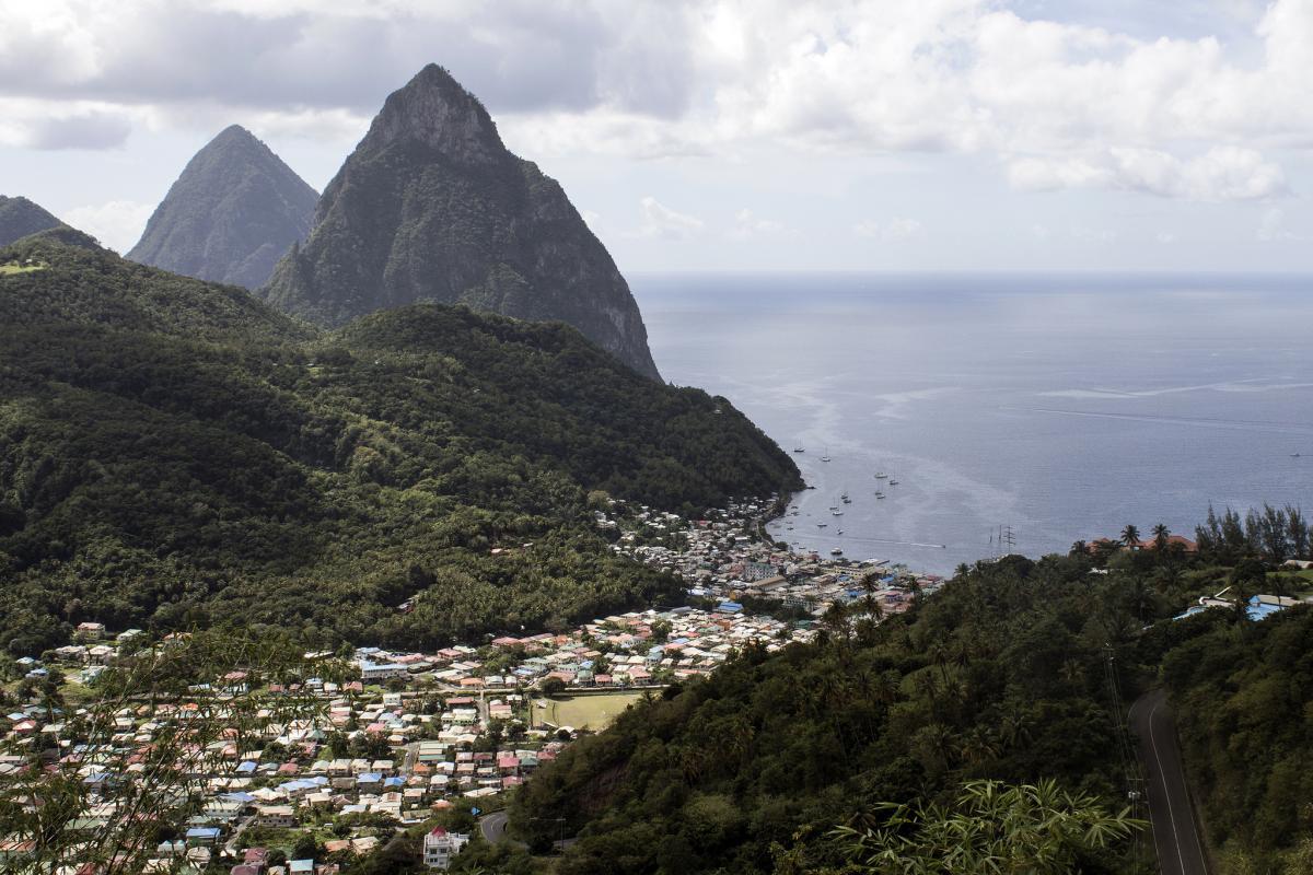 J6/KG9N Pitons, Palmiste, Soufriere, Saint Lucia Island.