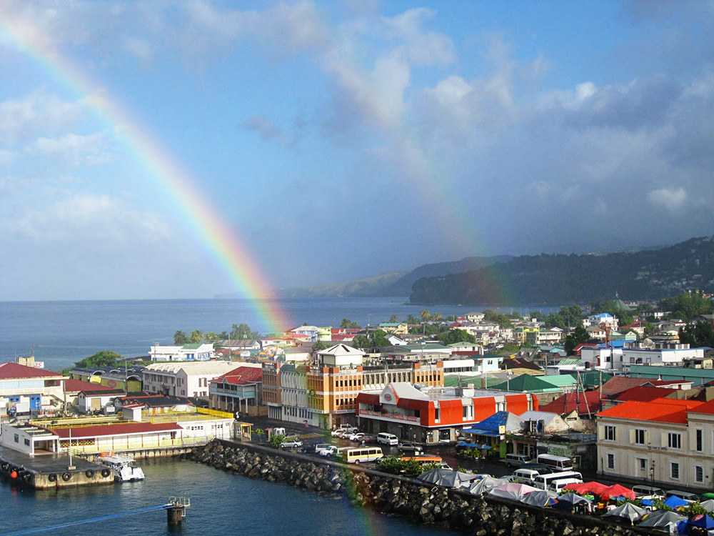 J70VR Rainbow, Dominica Island Tourist attractions spot