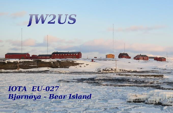 JW2US Bear Island QSL Card DX News