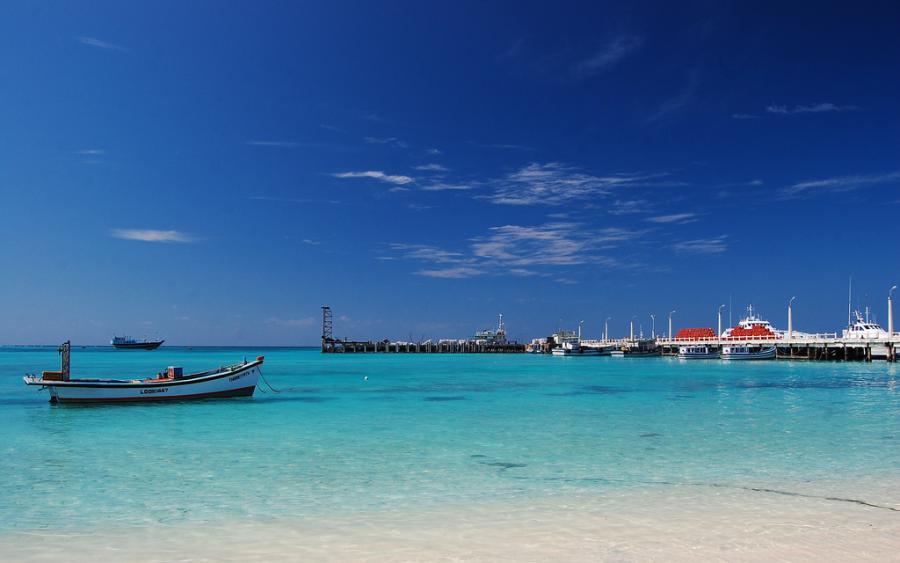 Остров Каваратти Лаккадивские острова VU7MS Туристические достопримечательности Пляж Саддама.