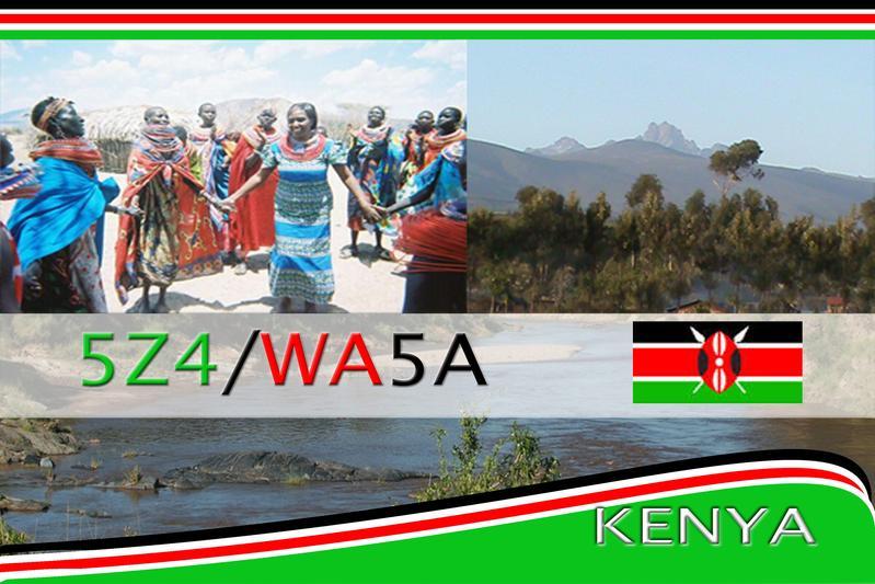 Kenya 5Z4/WA5A QSL