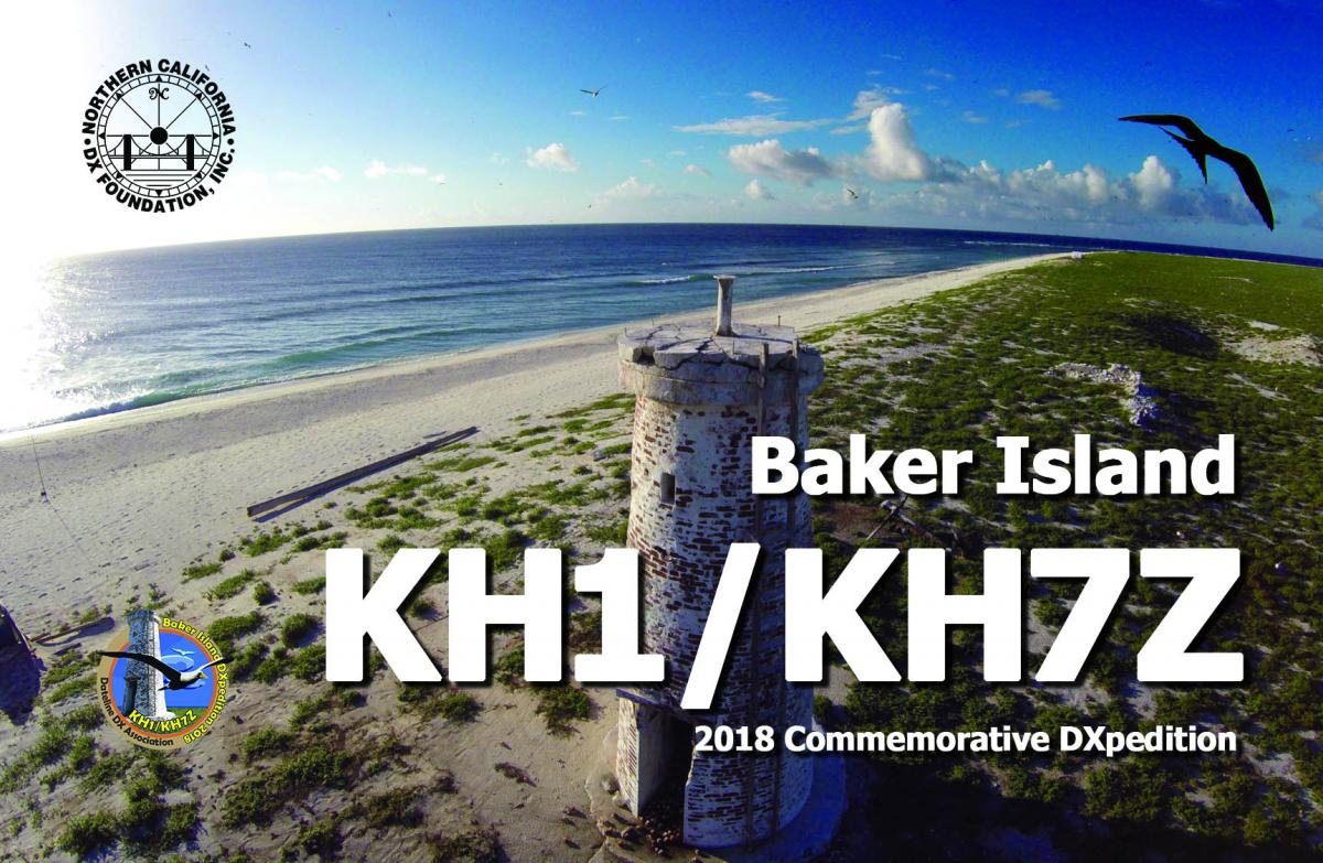 KH1/KH7Z Baker Island DX Pedition QSL