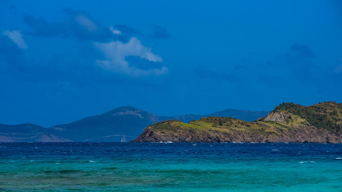KP2M Frydendal, Saint Thomas Island, US Virgin Islands. Tourist attractions spot