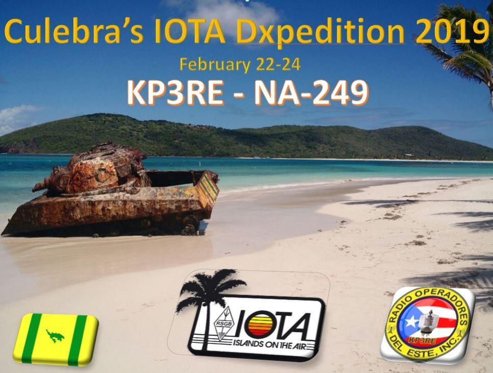 KP3RE Остров Кулебра IOTA экспедиция Баннер