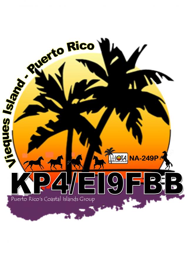 KP4/EI9FBB Vieques Island Logo