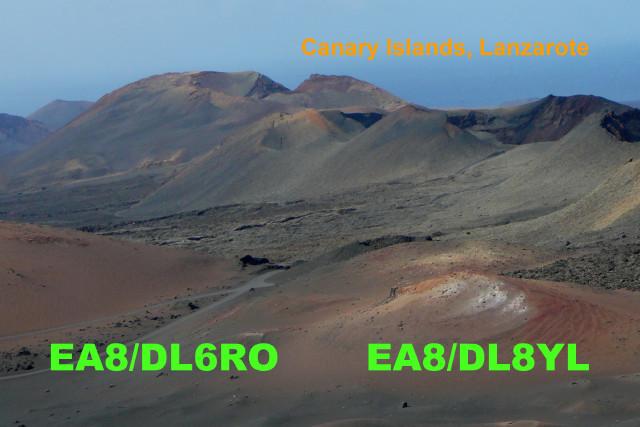 Lanzarote Island EA8/DL6RO QSL