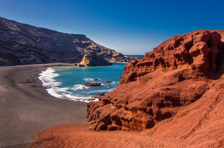 Lanzarote Island EA8/DL6RO Tourist attractions spot El Golfo.