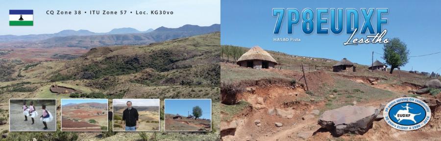 Лесото 7P8EUDX QSL
