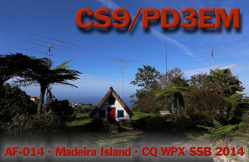 Madeira Island CS9/PD3EM QSL