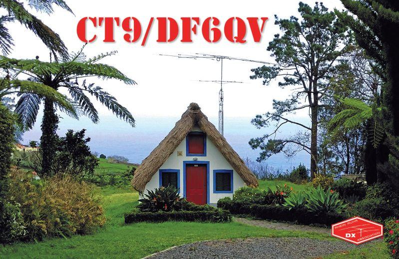 Madeira Island CT9/DF6QV QSL