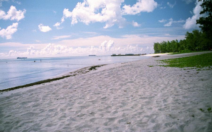 Mariana Islands KH0/JA1LPH Tourist attractions spot Chalan Kanoa Beach, Saipan Island.
