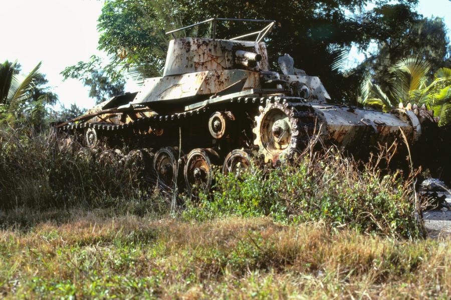 Mariana Islands KH0/JA1LPH Saipan Island Japanese tank
