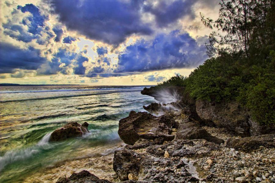 Марианские острова KH0UA Туристические достопримечательности Пляж Корал Оушен Поинт, Сайпан.