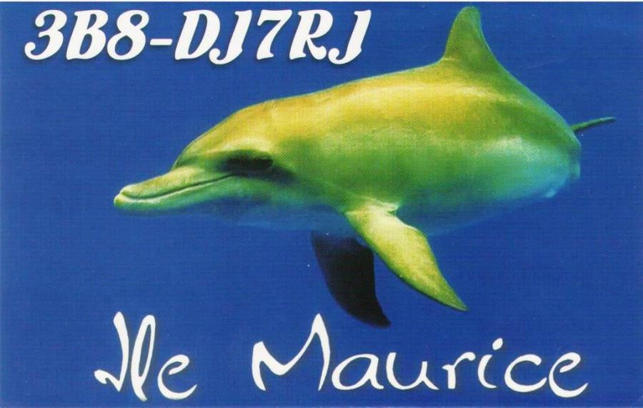 Mauritius Island 3B8/DJ7RJ QSL