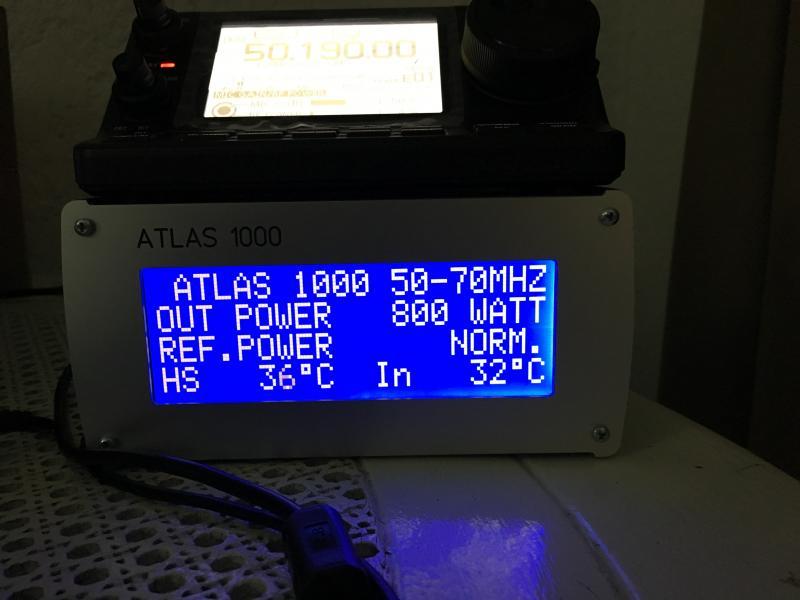 Mauritius Island 3B8/ZS4TX Atlas 1000 Control Head