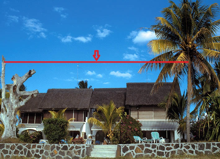 Mauritius Island 3B8/ZS4TX The planned skyhook position