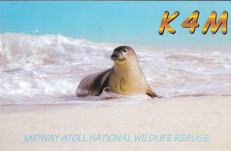 Midway Island K4M DX Pedition QSL