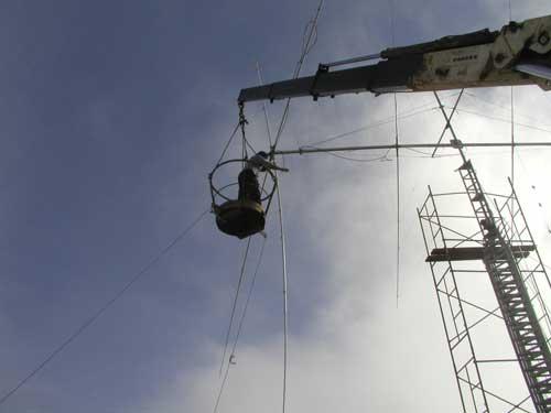 Монте Верде Пока 4L5A в Прае собирается третья антенна