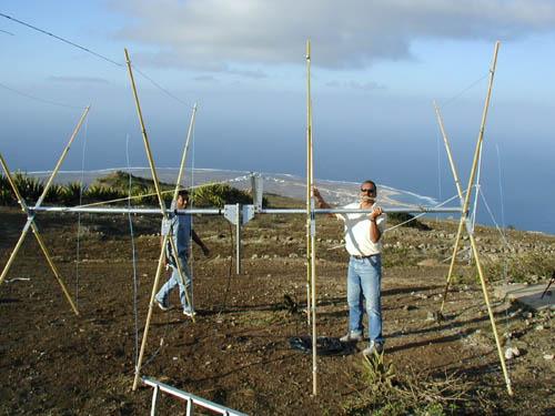 Монте Верде Остров Сан Висенти Кабо Верде Карлос D44AC Квадраты готовы к подъему.