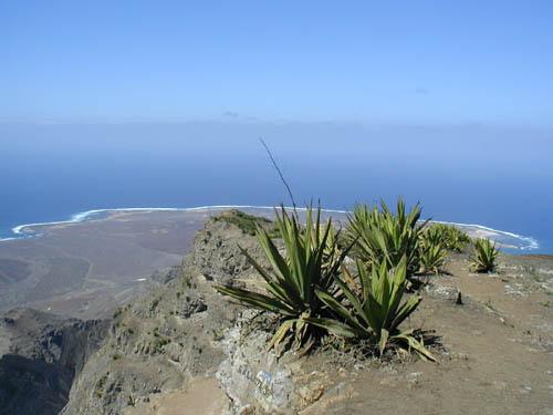 Монте Верде Остров Сан Висенти Кабо Верде Вид с горы в направление Европы