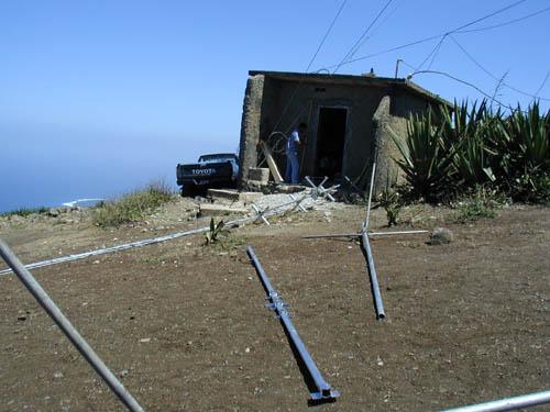 Монте Верде Остров Сан Висенти Кабо Верде Начала сбора антенн