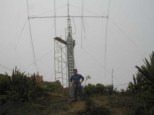 Монте Верде Первая антенна собрана