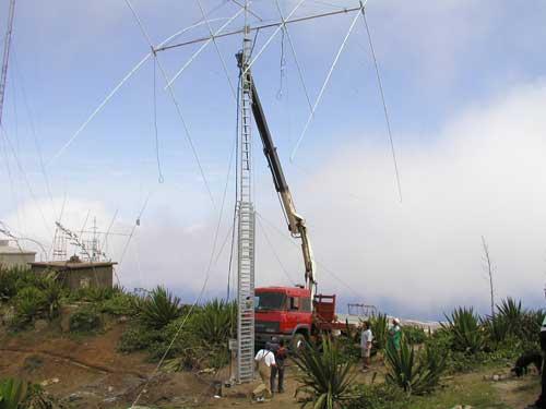 Монте Верде Подъем первой антенны