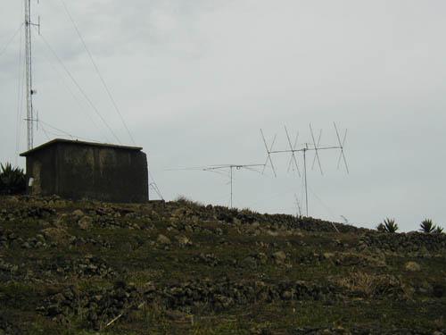 Монте Верде Остров Сан Висенти Кабо Верде Вид на антенны WPX SSB 2002
