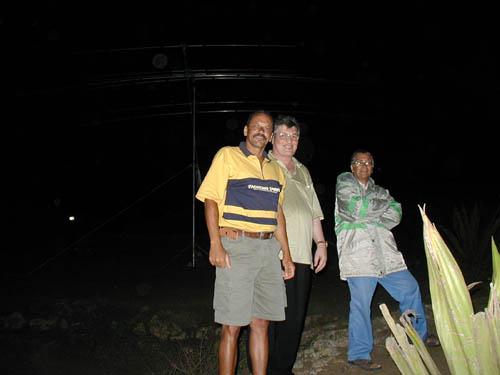 Монте Верде Остров Сан Висенти Кабо Верде За несколько часов до начала теста. Карлос D44AC, Александр 4L5A, Джибле.