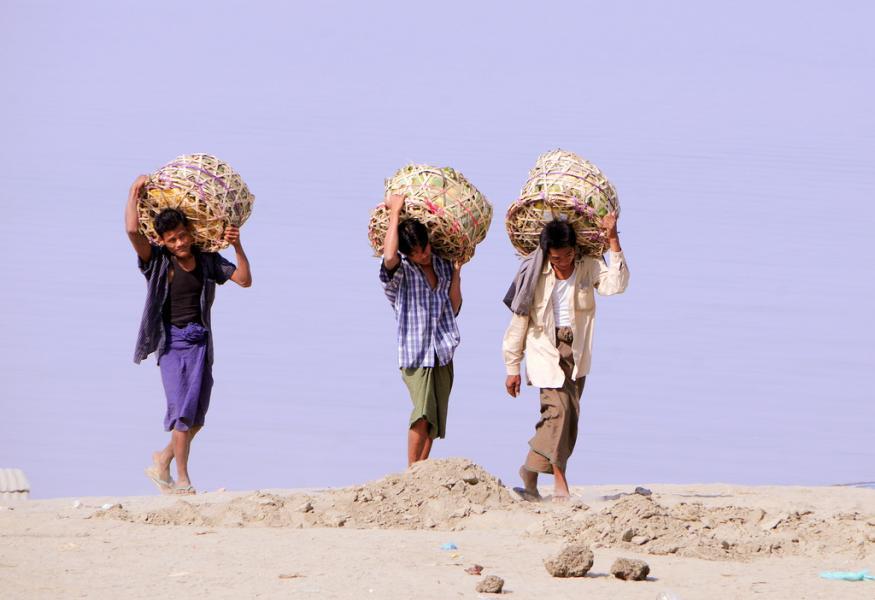 Myanmar XZ1A DX News Labourers.