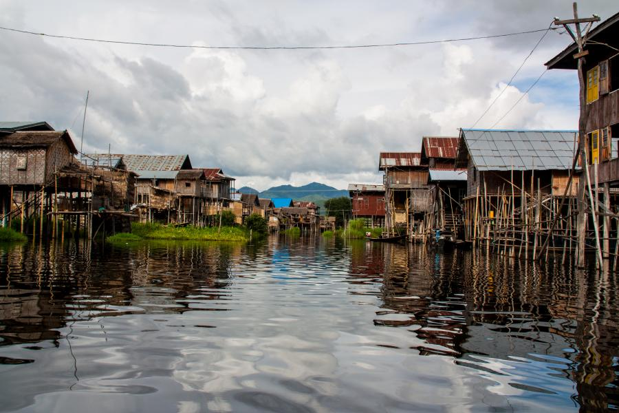 Myanmar XZ1A Tourist attractions spot Kaylar Town