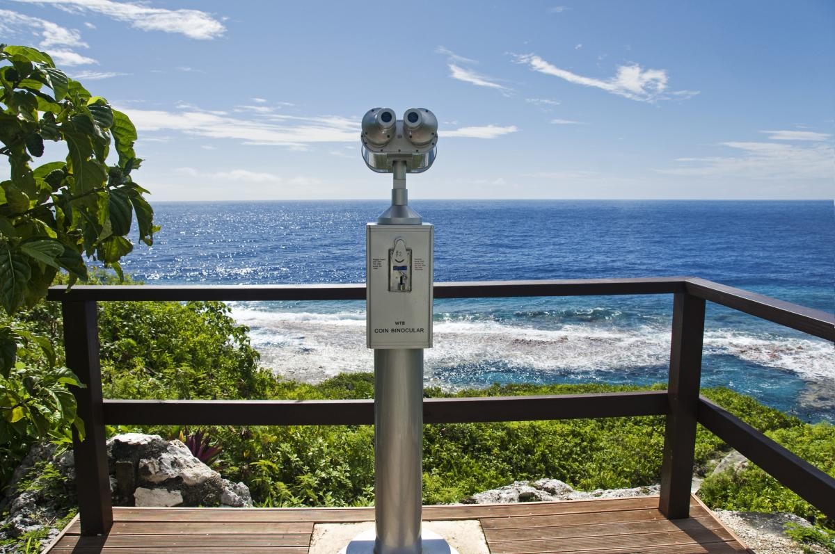 Niue Island E6AG Tourist attractions spot Whale Watching Point, Hikutavake Rock Pools